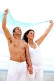 Couples dans le vent Photos libres de droits