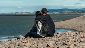 Couples dans Minehead Images libres de droits