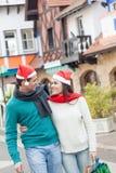 Couples dans Noël Image libre de droits