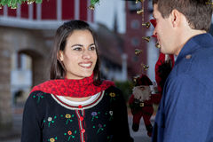 Couples dans Noël Images stock