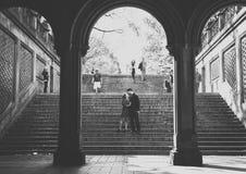 Couples dans NYC Images libres de droits