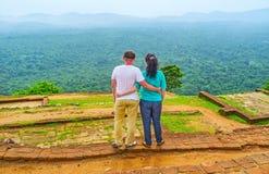 Couples dans Sigiriya Photos libres de droits