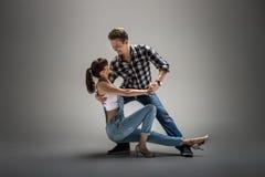 Couples dansant le danse social Image libre de droits