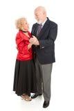 couples dansant le xxl aîné Photographie stock libre de droits