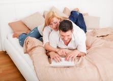 Couples de bâti d'ordinateur Images libres de droits