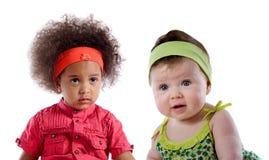 Couples de bébé d'isolement Photographie stock