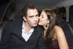 Couples de banquette arrière Photo stock