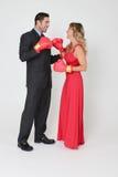 Couples de boxe Photo stock