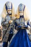 couples de carnaval Photos stock