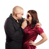 Couples de chant Photos stock