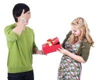 Couples de chemin mélangé célébrant le valentine Images stock