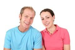 Couples de chemise de couleur Photographie stock
