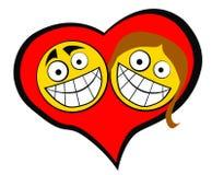 Couples de coeur Images libres de droits