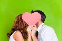 Couples de coeur d'amour Photographie stock