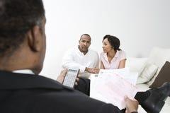 Couples de comptable et de client Images libres de droits