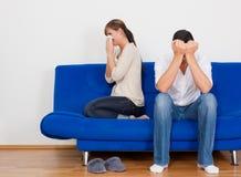 Couples de conflit Image stock