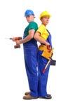 Couples de constructeurs Photographie stock libre de droits