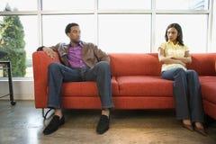 Couples de contestation. Images stock