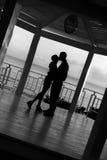 Couples de coucher du soleil Images stock