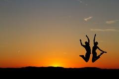 Couples de coucher du soleil Photographie stock