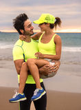 Couples de coureur Photos libres de droits