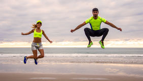 Couples de coureur Photographie stock