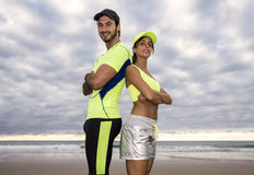 Couples de coureur Photos stock