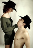 Couples de cowboy Images stock