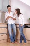 Couples de cuisine Photographie stock