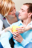 Couples de cuvette Photographie stock