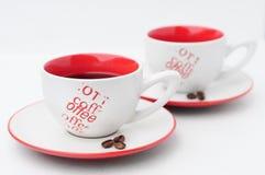 Couples de cuvette de café Photo libre de droits