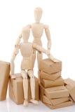 Couples de déménager de marionnettes Images stock