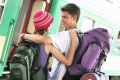 Couples de déplacement Images stock