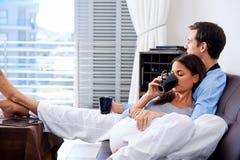 Couples de détente Image stock