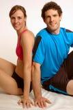 Couples de détente de forme physique Image stock