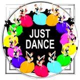 Couples de danse, cadre, modèle lumineux, les gens, danseuses illustration de vecteur