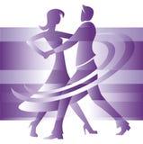 Couples de danse? d'isolement sur le blanc illustration libre de droits