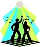 Couples de danse de disco Images libres de droits