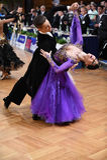 Couples de danse de salle de bal Photographie stock