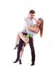 Couples de danse de Salsa Photo stock