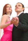 Couples de danse formellement rectifiés Image libre de droits