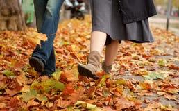 Couples de datation à l'automne Photographie stock libre de droits