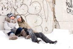 Couples de deux jeunes amoureux Images libres de droits