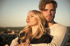 Couples de famille de l'homme et de fille sexy, confiance Photographie stock