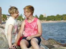 Couples de femmes Photographie stock libre de droits