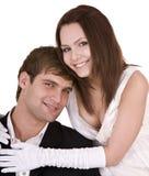 Couples de fille et d'homme. Amour et passion. Image stock