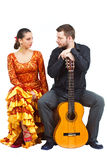 Couples de flamenco Photo stock