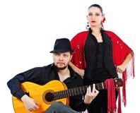 Couples de flamenco Photos libres de droits