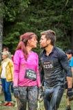 Couples de forme physique après activité humide Photographie stock libre de droits