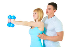 Couples de forme physique d'isolement Image stock
